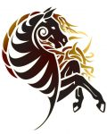 Tribal patterns as horse