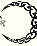 Tribal design with moon and star