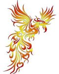 Yellow and red phoenix