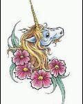 Gold horn of unicorn