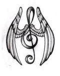 Small tattoo design with violin key