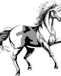 Unicorn with horn