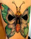 Butterfly with skull motive