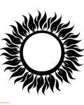 Great  tattoo design with sun