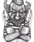 Tattoo design with clown